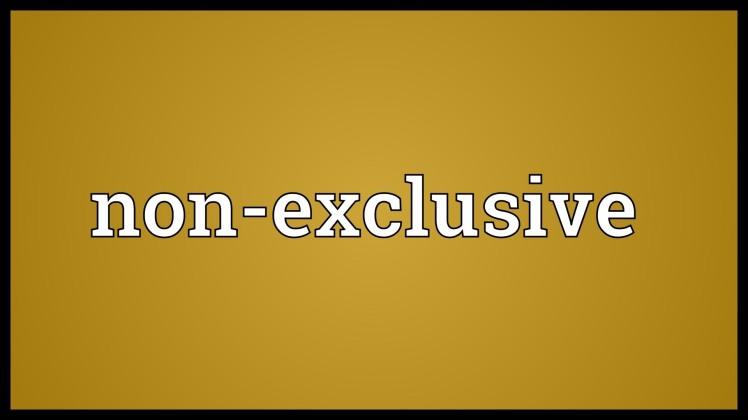 non-exclusive