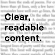 readable