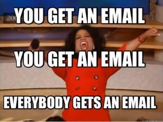 you get email
